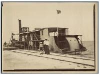Egypte, Bateau sur le Canal de Suez  Vintage silver print.  Tirage argentique