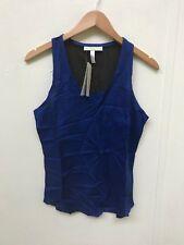 adidas NEO Women's Rayon TT Vest - 10 (Medium) - Blue - New