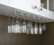 Wine Glass Rack Under Bar Cabinet 18 Pcs Hanging Storage Hanger Holder Organizer