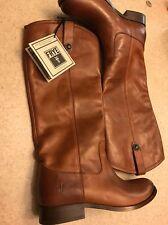 New Frye Melissa Button Cognac Boots Women's 7 Extended Calf