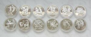Griechenland, 12 x 10 Euro Silber PP , Olympia Athen 2004 kpl.