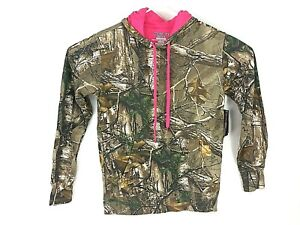 WOMENS REALTREE CAMO HOODED PULLOVER  SWEATSHIRT S/CH (4-6)