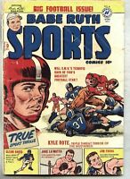 Babe Ruth Sports Comics #10-1950 gd+ Kyle Rote / Jake LaMotta / Pro Wrestling