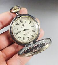 Collection Beautifully bronze Carved flower mechanical pocket watch omea clock