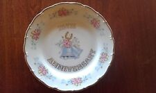Beautiful 25th Anniversary Plate, Porcelain Made In CZechoslovakia (2 available)