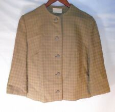 Pendleton Womens Brown Gold Plaid Wool Blazer -  Read Description For Details