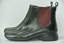 NEW Clarks Indigo Womens Sz 6 M Black Leather Slip On Ankle Boots