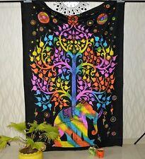 Psychedelic Elephant mandala Wall Hanging Beach Towel Tapestry Dorm Home Decor