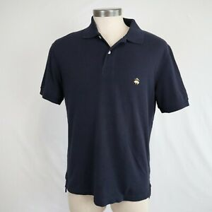 Brooks Brothers Performance Slim Fit Men's Navy Short Sleeve Polo Shirt Size L