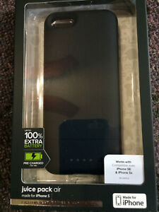 NEW Mophie Juice Pack Air iPhone 5 5s 5 SE battery case - black