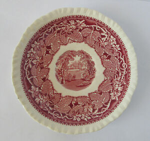 Vintage Mason's Vista Pink/Red Saucer Ironstone Made in England
