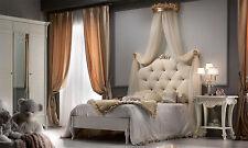 Luxus Einzelbett Kinderbett Belli Elfenbein Polsterung Holzkrone Stilmöbel Italy