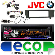 BMW 1 Series E81 E82 E87 E88 JVC CD MP3 USB Bluetooth Car Stereo & Steering Kit