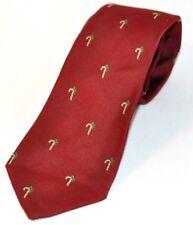 Neckwear Tie Christmas Candy Cane Red Burgundy Maroon Designer Print Novelty