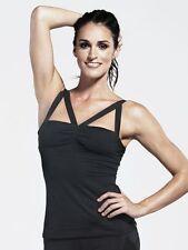 NEW $152 MICHI Feline Workout Tank Top Ballet Adjustable Straps Black L
