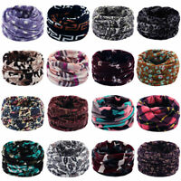 Womens Unisex Winter Soft Fleece Scarf Double Layer Knitted Warmer Snood Scarves