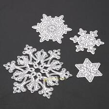 4pcs Snowflake Metal Cutting Dies Stencil DIY Scrapbooking Embossing Paper Craft