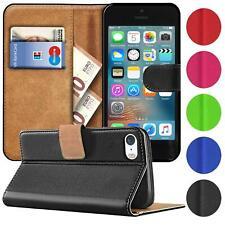 Book Case für iPhone 5 S SE 1 Hülle Flip Cover Handy Tasche Schutz Hülle Schale