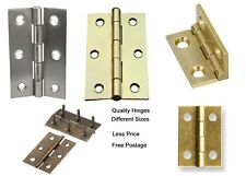 """2x WOLSELEY S17133 4/"""" 10cm DOUBLE STAINLESS STEEL WASHERED BUTT HINGES FIXINGS"""