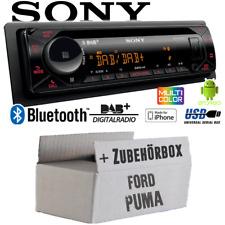 Autoradio Sony Bluetooth | DAB+ | CD/MP3/USB KFZ PKW Einbauset für Ford Puma