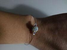 Bracelet Blanc/Cristal Strass pr robe de Mariée/Mariage/Soirée  perle shamballa