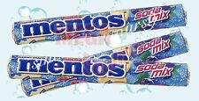 3 x MENTOS Chewy Dragees Candy SODA MIX Melon Strawberry Lemon Grape Flavor 37g