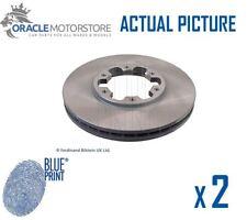 2 x NEW BLUE PRINT FRONT BRAKE DISCS SET BRAKING DISCS PAIR OE QUALITY ADN143138