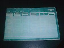 1988 CHEVROLET BARETTA OWNERS MANUAL