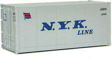 Walthers HO Scale 20' Smooth-Side Container NYK Lines (Gray/Blue)