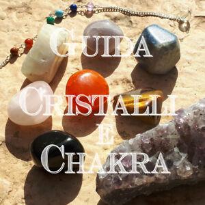 """EBOOK CD """"GUIDA CHAKRA E CRISTALLI"""" libro cristalloterapia pietre naturali aura"""
