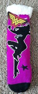 Sherpa Lined Socks DC Comics Wonder Woman Warm/Soft/Non Slip One Size New w/Tags