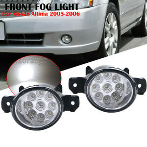 Fog Lights Driving Bumper Lamp For Nissan Altima 2005 2006 Clear Lens Left&Right