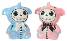 Elefun Furrybones Blue and Pink Salt and Pepper Shakers