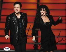 Donny & Marie Osmond LAS VEGAS Performers Signed Auto 8x10 Photo PSA/DNA COA