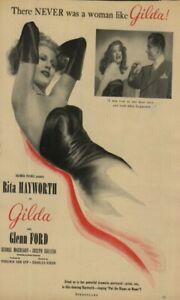 RITA HAYWORTH IN VERY RARE 1940's MAGAZINE MOVIE AD