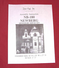Dura-Craft  *NEWBERG* NB-180  Dollhouse Instructions
