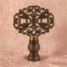 Antiqued Ornate Floral  LAMP FINIAL for old antique shade or lampshade
