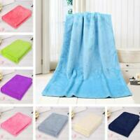 NEW Fashion Solid Soft Throw Baby Kids Blanket Warm Coral Plaid Blankets Flannel