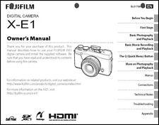 FujiFilm FinePix X-E1 Digital Camera Owner's  Manual User Guide Instruction