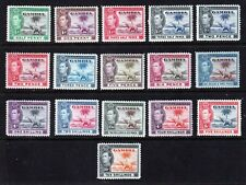More details for gambia  1938 -1946 king george vi set of 16 sg 108-117 cat val £170