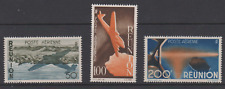 REUNION  FRANCE serie complete PA 1947 42 43 44 COTE 51€ N** MNH air mail avions