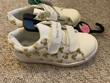Brand New With Tags Cream Minnie Mouse Trainers Size 10