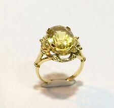 BAGUE OR 18K & PIERRE PRECIEUSE CITRINE 4,50 Carats cts / GOLD RING JEWEL