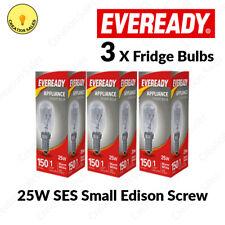 3 X Fridge Bulb Freezer 25w E14 Refrigerator Lamp Appliance Light SES Pygmy 240V