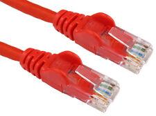10m RJ45 ETHERNET CAT6 NETWORK GIGABIT LAN Patch internet modem via cavo Piombo Rosso