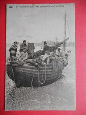 BERCK-PLAGE  :  Les Préparatifs pour la Pêche..........VO.1930.