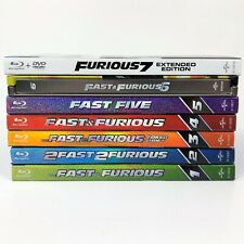 Fast and Furious Collection Blu-ray Lot movies 1-7 FF6 Steelbook Adult Owned