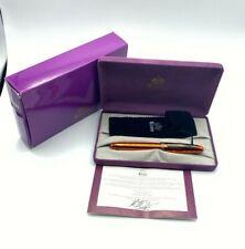 KRONE K-Class Flambe Orange Limited Edition Fountain Pen 18K Broad nib NEW