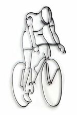 World Unique Imports Bicycle Rider Metal Wall Sculpture