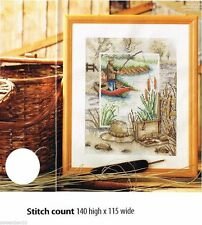 OUT FISHING     -     CROSS STITCH PATTERN    A7L2S